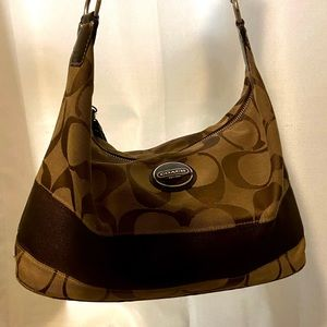 y2k coach shoulder purse